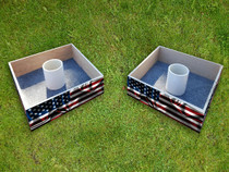 Squared Custom American Flag Washer Toss Set