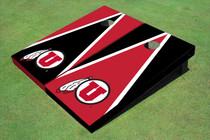 University Of Utah 'U' Alternating Triangle Custom Cornhole Board