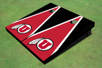 University Of Utah 'U' Red And Black Matching Triangle Custom Cornhole Board