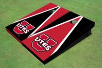 University Of Utah 'UTES' Alternating Triangle Custom Cornhole Board