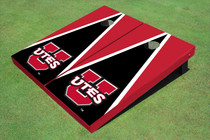 University Of Utah 'UTES' Black And Red Matching Triangle Custom Cornhole Board