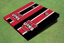 University Of Utah 'UTES' Alternating Long Stripe Custom Cornhole Board
