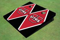 University Of Utah 'UTES' Red And Black Matching Diamond Custom Cornhole Board