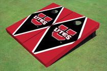 University Of Utah 'UTES' Black And Red Matching Diamond Custom Cornhole Board