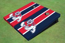 Fresno State Bulldog Alternating Long Stripe Custom Cornhole Board