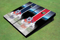 Fresno State Bulldog Field Long Strip Alternating Custom Cornhole Board