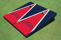 Fresno State Bulldog 'Word Mark' Red And Navy Blue Matching Triangle Custom Cornhole Board