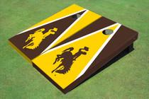 University Of Wyoming Cowboys Alternating Triangle Custom Cornhole Board