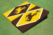 University Of Wyoming Cowboys Alternating Diamond Custom Cornhole Board