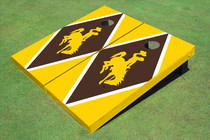 University Of Wyoming Cowboys Brown And Gold Matching Diamond Custom Cornhole Board