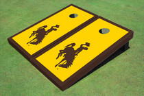 University Of Wyoming Cowboys Gold Matching Border Custom Cornhole Board