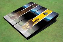 University Of Wyoming Cowboys Field Long Strip Alternating Custom Cornhole Board