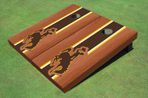 University Of Wyoming Cowboys Brown Rosewood Matching Long Strip Custom Cornhole Board