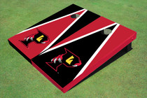 Orlando Predators Black And Red Alternating Triangle Custom Cornhole Board