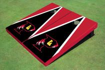 """Orlando Predators """"P"""" Black And Red Triangle Custom Cornhole Board"""