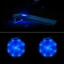 Blue Cornhole Board Lights
