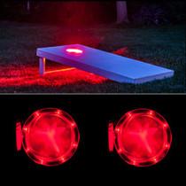 Red Cornhole Board Lights