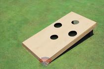 Single Non Painted 4 Hole Custom Cornhole Board