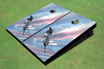Fighter Jet Custom Cornhole Board