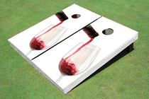 Red Wine Custom Cornhole Board