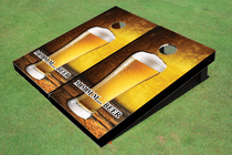 Single Beer Custom Cornhole Board