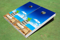 Beach Pebble Custom Cornhole Board