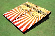 Sun Burst Custom Cornhole Board