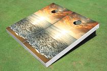Sunset Custom Cornhole Board