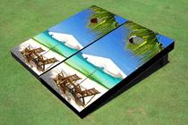 Beach Chair 2 Custom Cornhole Board