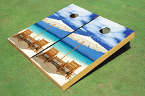 Wonderful Beach Cornhole Board set