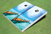 Fishing Dock Paradise Cornhole Board Set