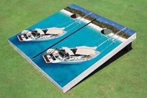 Sail Boat Custom Cornhole Board