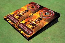 Fire Truck Custom Cornhole Board