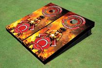 Fire Fighter Maltese Cross Cornhole Board Set
