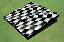 Checkered Flag Custom Cornhole Board