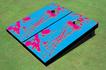 90's Splatter Custom Cornhole Board