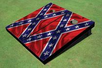Waving Confederate Flag Custom Cornhole Board