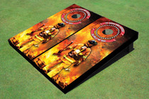 Fire Fighter Custom Cornhole Board