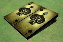 Ace of Spade Grunge Custom Cornhole Board