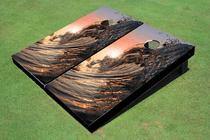 Big Wave Curl Custom Cornhole Board