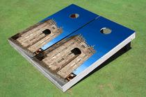 Castle #4 Custom Cornhole Board