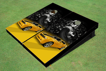 Camaro Yellow Custom Cornhole Board