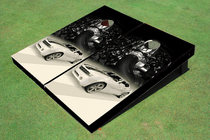 Camaro White Custom Cornhole Board