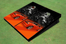 Camaro Red Custom Cornhole Board