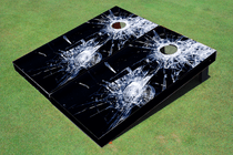 Broken Glass Custom Cornhole Board