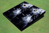 Broken Glass Custom Cornhole Board