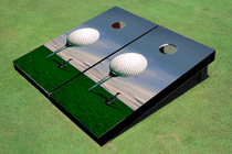 Big Golf Ball Custom Cornhole Board