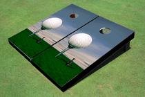 Big Golf Ball Custom Cornhole Board
