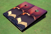 Bible Sun Rays Custom Cornhole Board