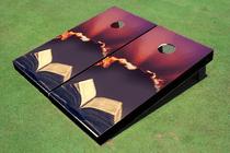 Bible Sun Rays Custom Cornhole Board